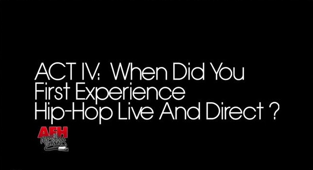 When did you first experience hip-hop in person?  Check out what Big Daddy Kane, Kendrick Lamar, DJ Jazzy Jeff, Skillz, XV, Stic Man, Rapsody, The Kid Daytona, Murs and Statik Selektah had to say about the first time they experienced hip-hop live and direct.
