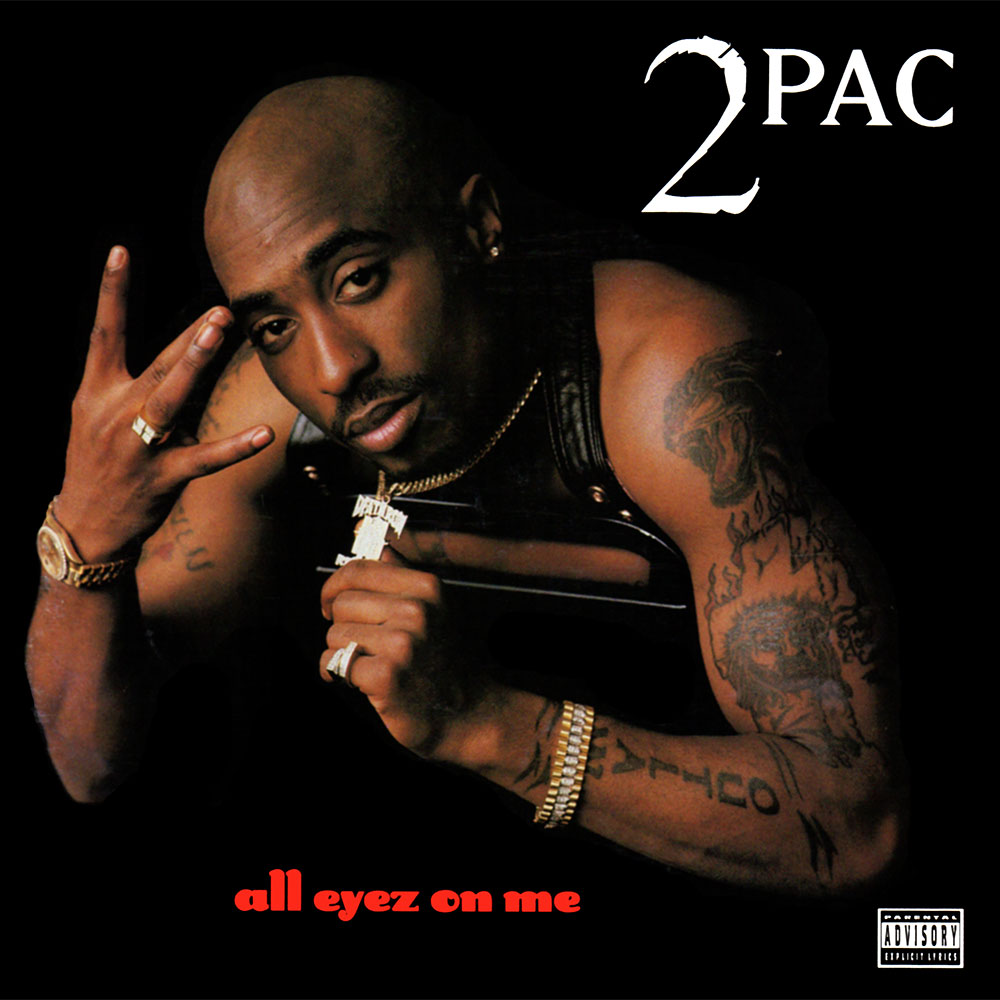 celebrating the 20 year anniversary of 2pac s all eyez on me a color photograph of tupac dominates the square frame unlike on me against the world tupac is decked out in diamonds and gold platinum had not yet
