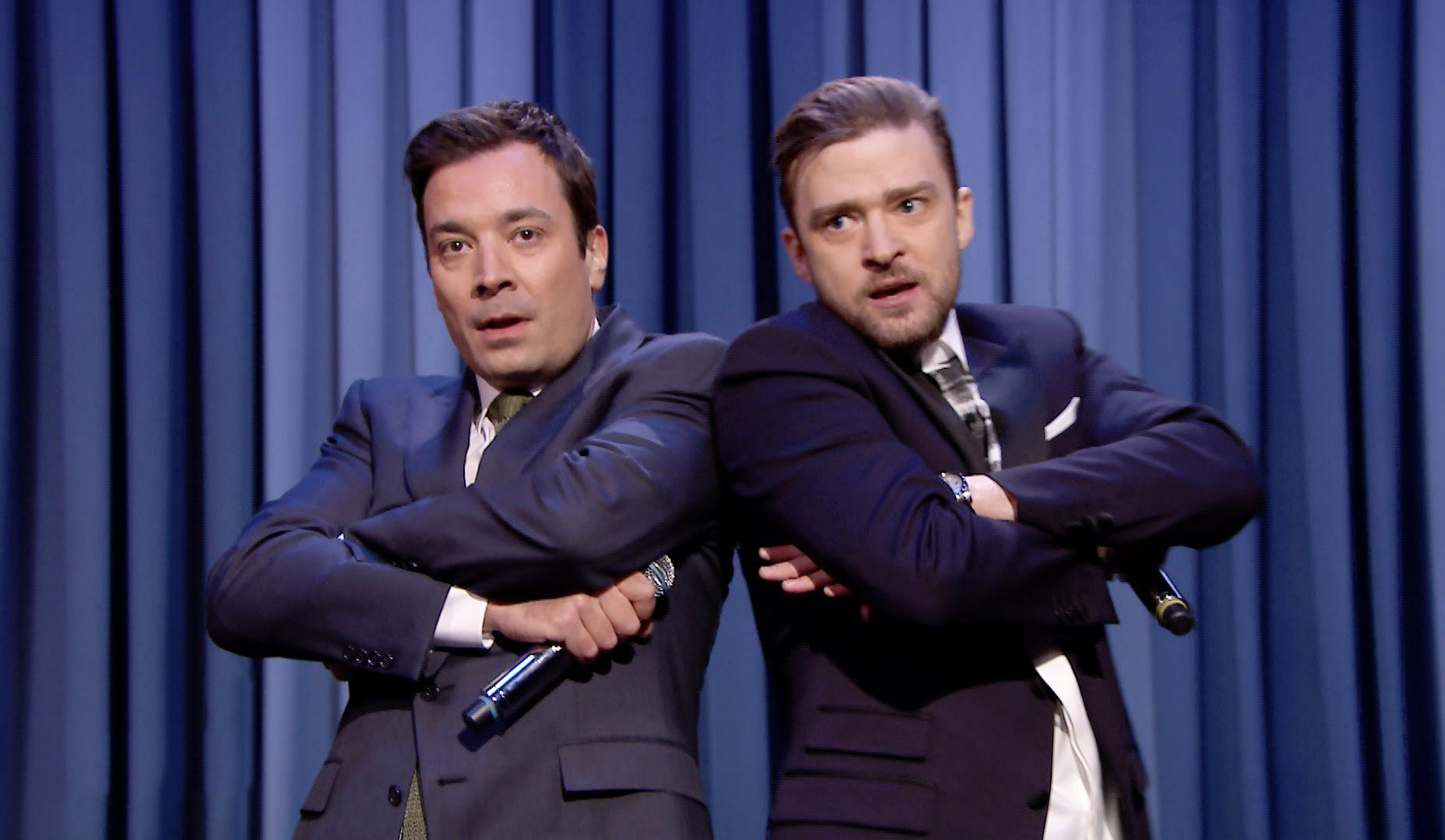 Photo of Jimmy Fallon & his friend musician  Justin Timberlake - Longtime