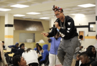 "Erykah Badu Sings ""On & On"" During A High School Lunch Period (Video)"