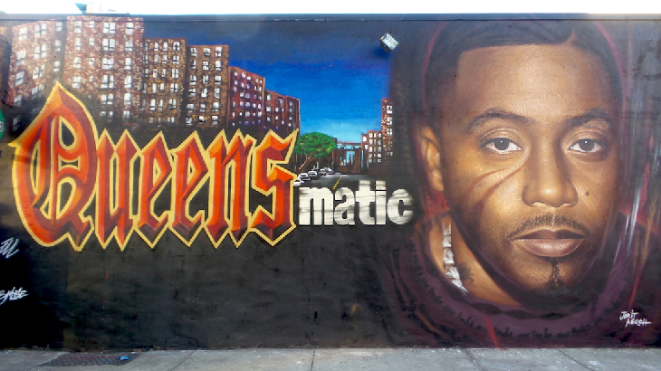 Italian artists pays tribute to nas with queensbridge mural for Nas mural queensbridge