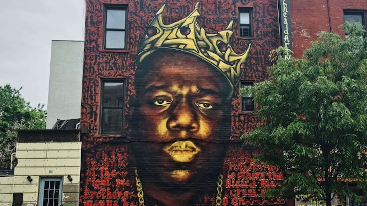 Hip hop fought for biggie his mural will not be destroyed for Biggie smalls mural brooklyn